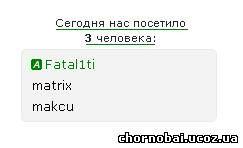 Статистика для сайта на Чорнобаївському сайті