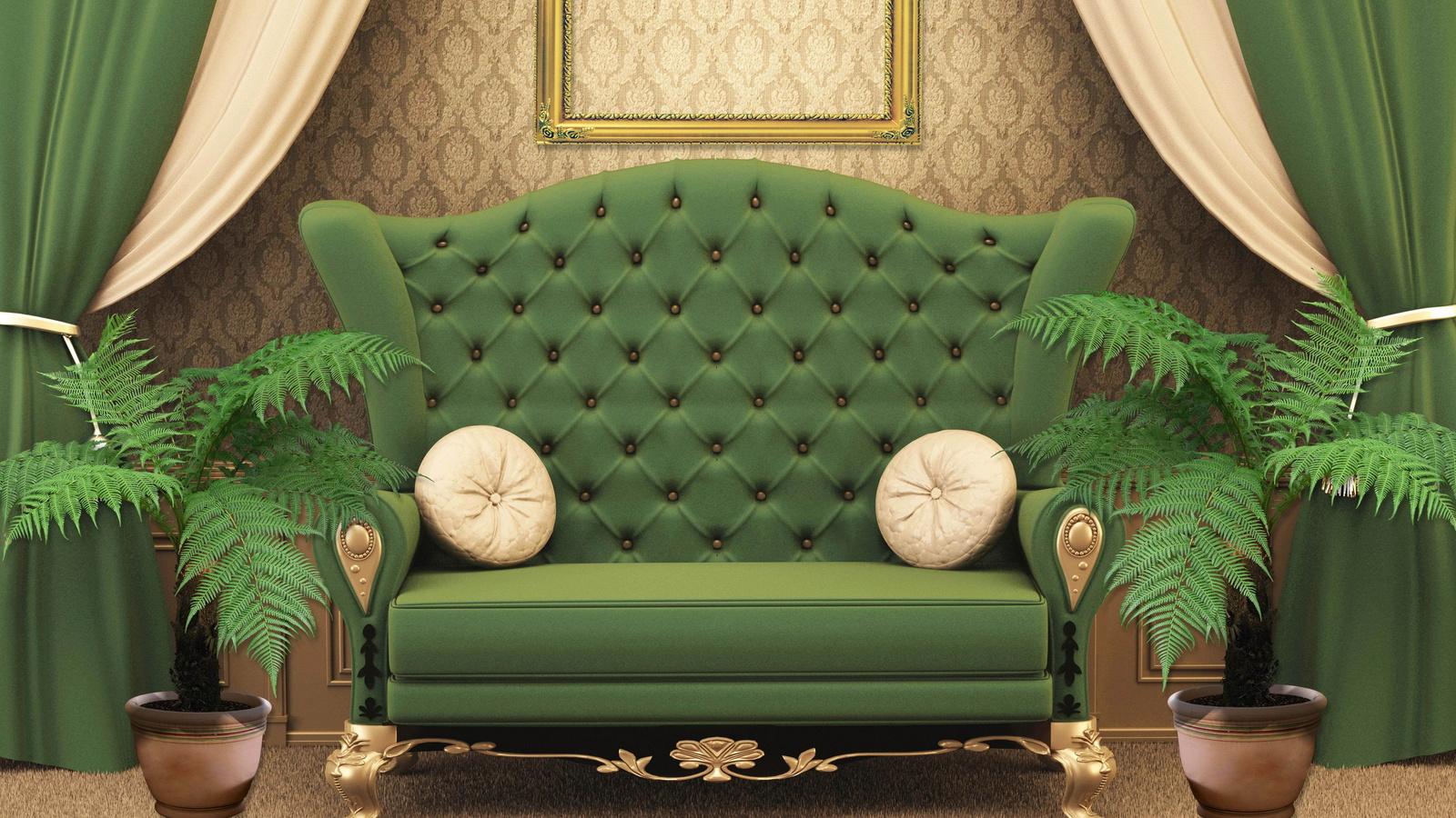 Как сделать комнату зеленой